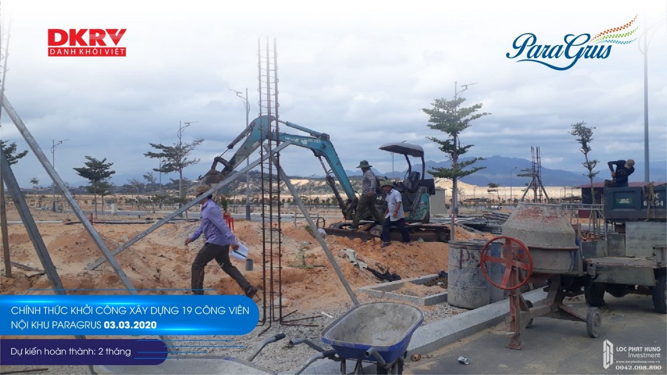 Tiến độ dự án khu đô thị KN Paradise Cam Ranh 03/03/2020