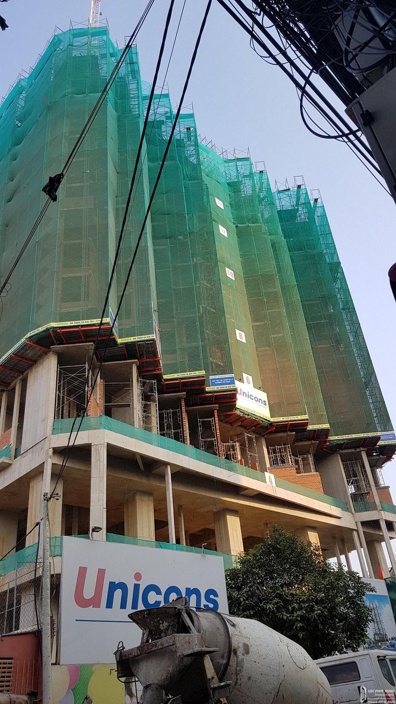 Tiến độ xây dựng dự án căn hộ Asiana Capella quận 6 27/03/2020