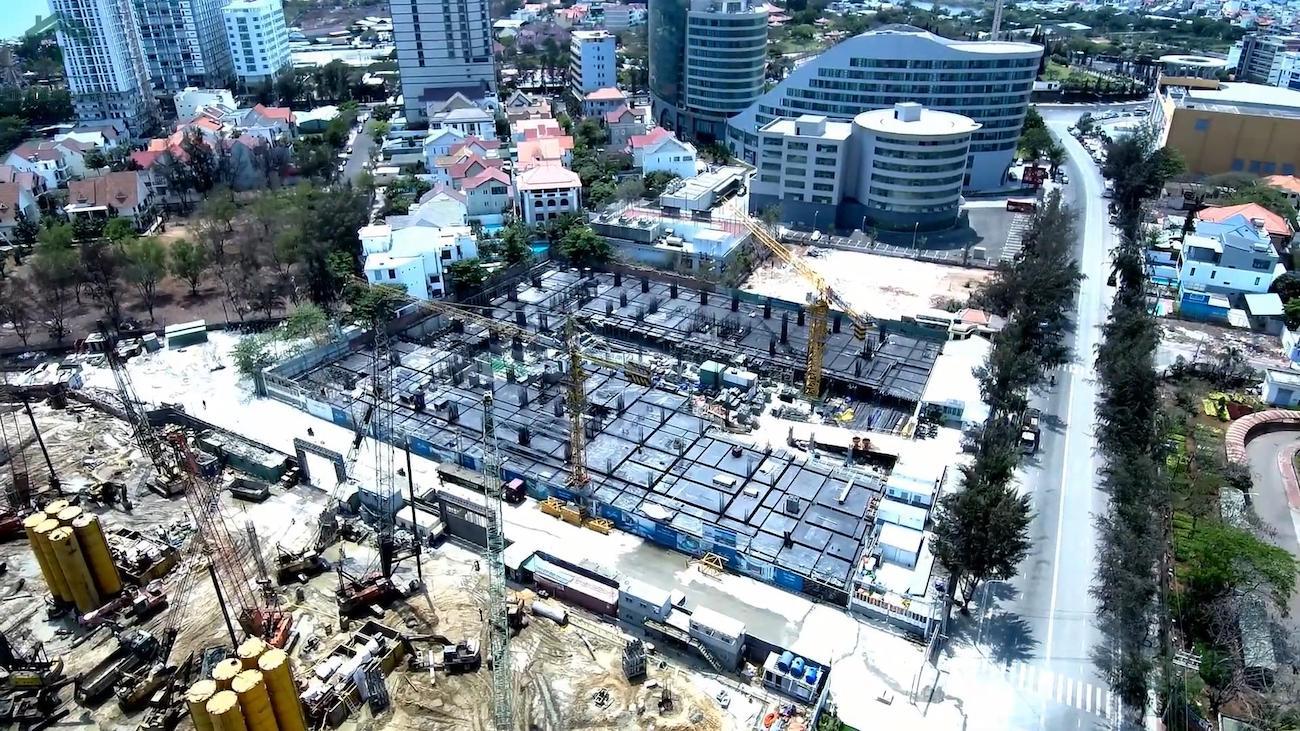 Tiến độ xây dựng dự án condotel the sóng vũng tàu chủ đầu tư an gia tháng 3/2020