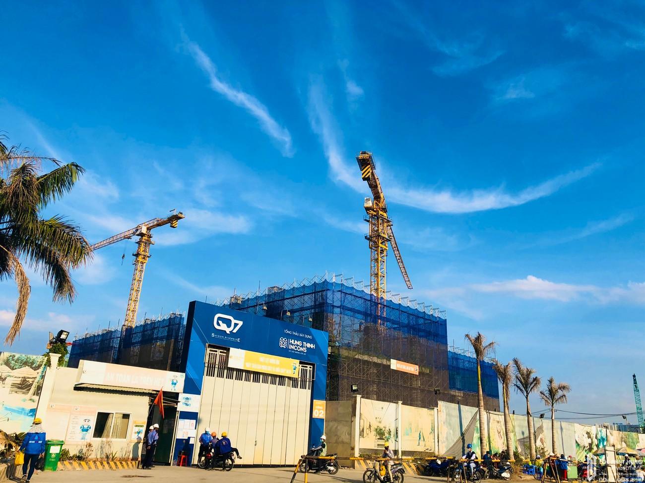 Tiến độ dự án căn hộ Q7 Sài Gòn Riverside Complex tháng 03/2020