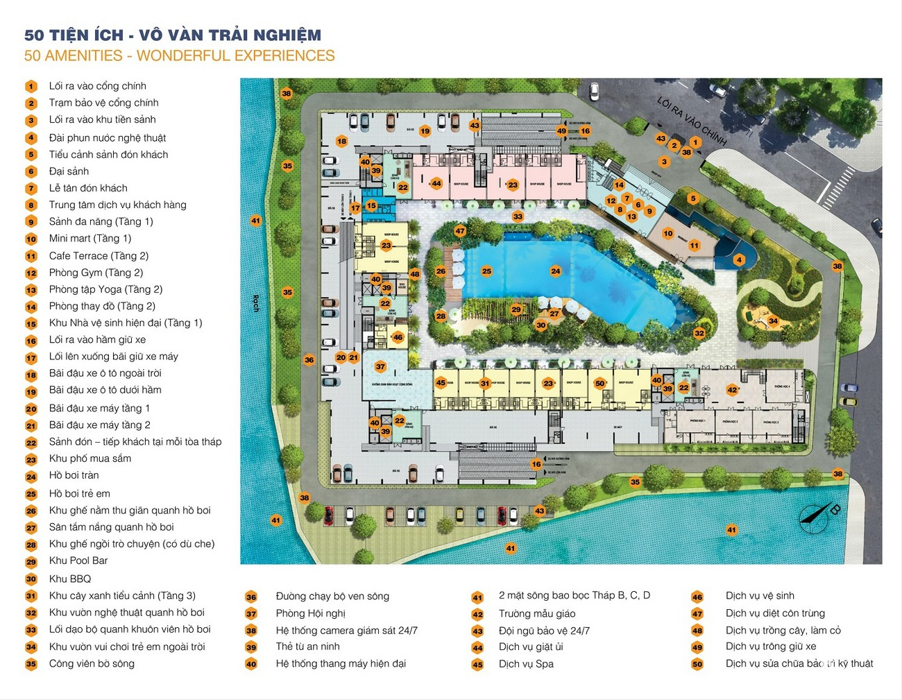 Tổng hợp tiện ích dự án căn hộ chung cư Jamila Khang Điền Quận 9 Đường Song Hành chủ đầu tư Khang Điền Quận 9