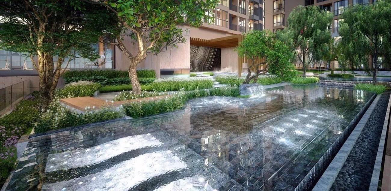 Khuôn viên Ascent Garden Homes đúng nghĩa một resort xanh