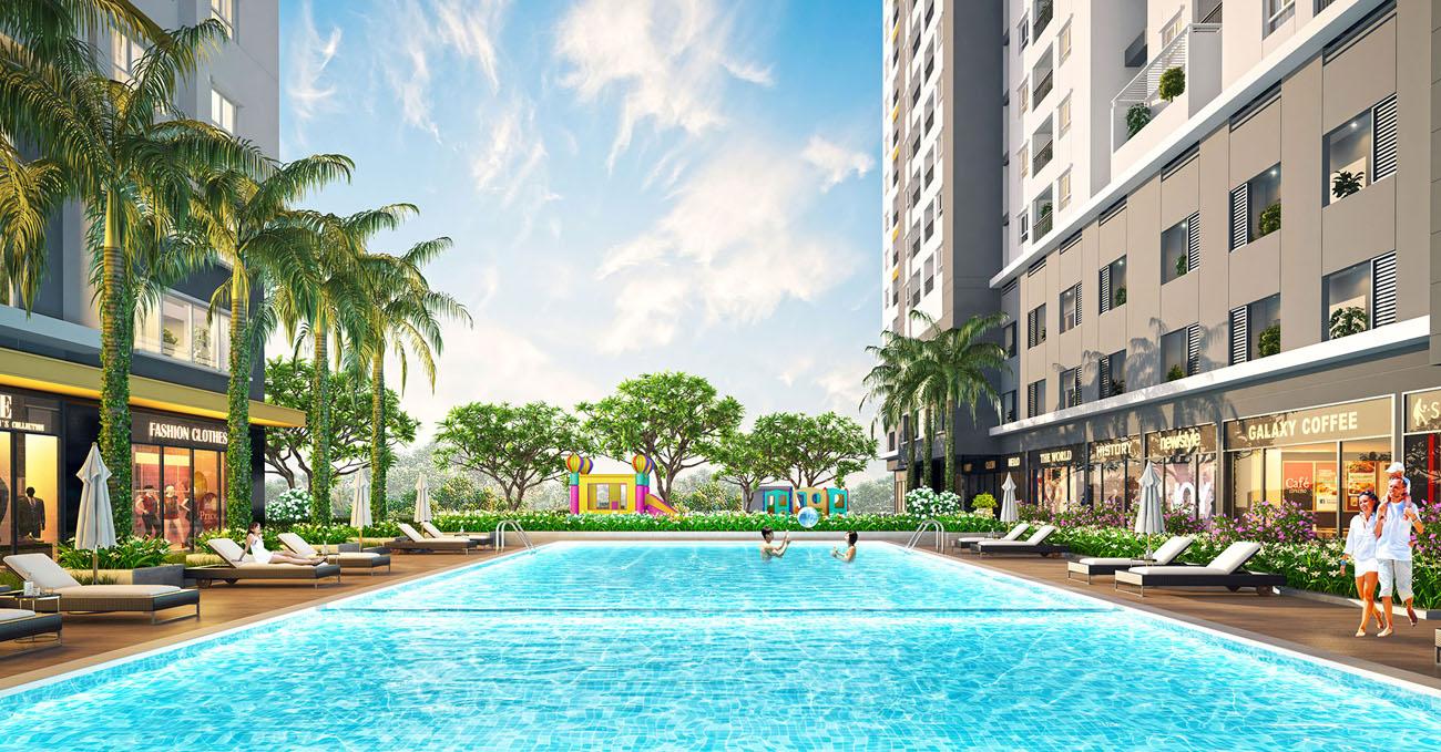 Tiện ích hồ bơi dự án căn hộ chung cư 9x Next Gen Dĩ An Bình Dương Đường Đường Thống Nhất chủ đầu tư Hưng Thịnh