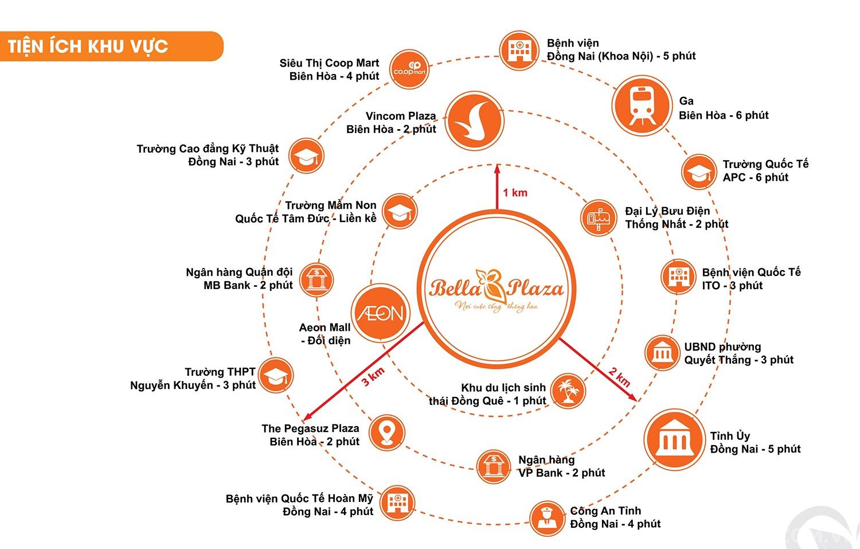 Tiện ích ngoại khu dự án Bella Plaza Biên Hòa Đồng Nai