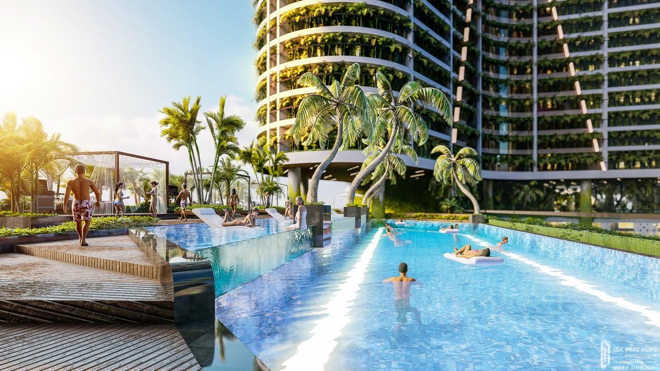 Hồ bơi tầng trệt dự án căn hộ Sunshine Diamond River Quận 7 đường Đào Trí