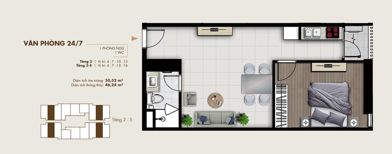 Thiết kế văn phòng thông minh 50 m2