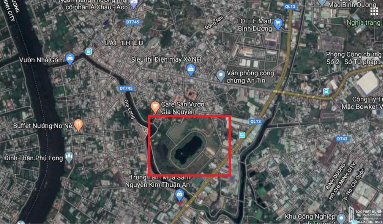 Vị trí địa chỉ dự án căn hộ chung cư Hồ Gươm Xanh Thuận An City Thuận An Đường 136 ĐL Bình Dương chủ đầu tư TBS Land