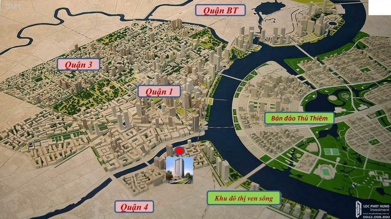 Vị trí địa chỉ dự án căn hộ chung cư Saigon Royal Quận 4 Đường Bến Vân Đồn chủ đầu tư Novaland