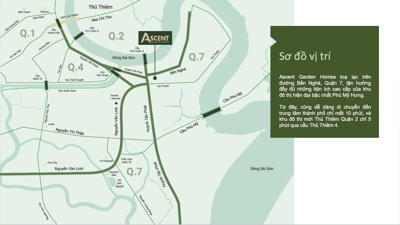 Vị trí vàng dự án Ascent Garden Homes tại Quận 7
