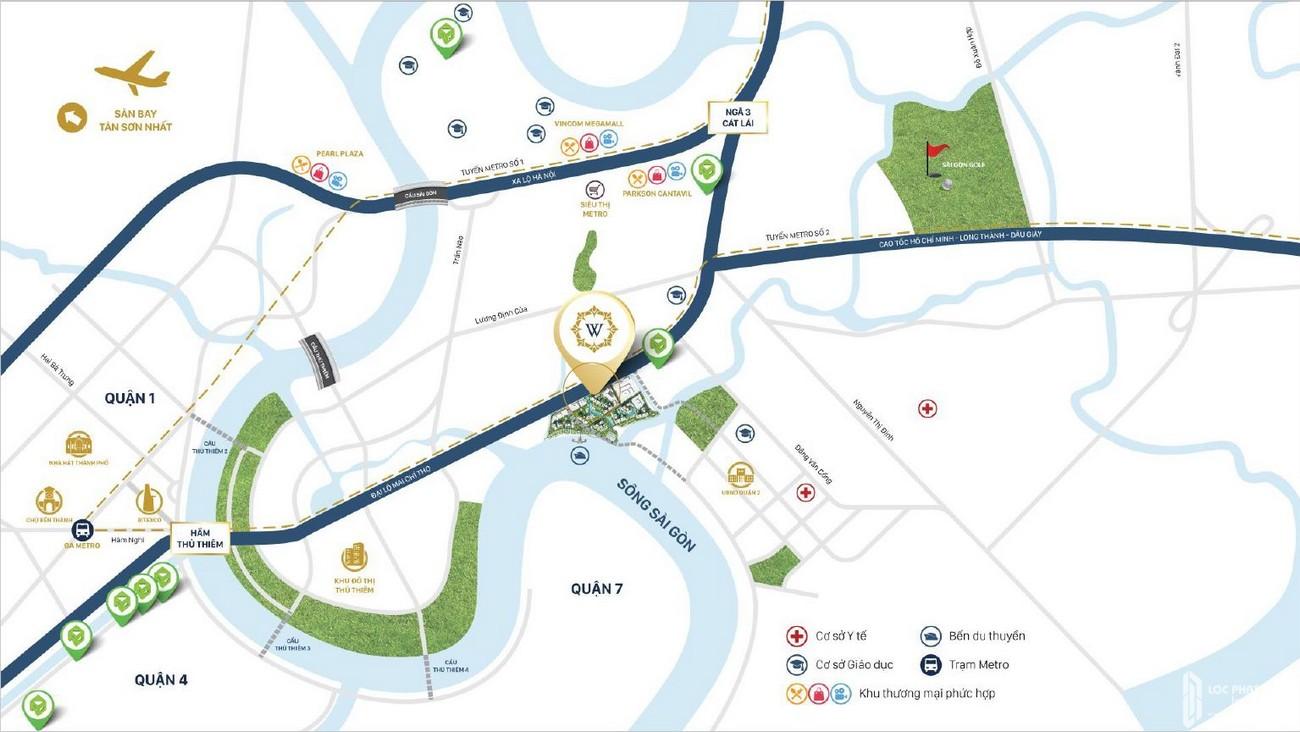 Vị trí dự án căn hộ Water Bay Quận 2 chủ đầu tư Novaland tại Mai Chí Thọ