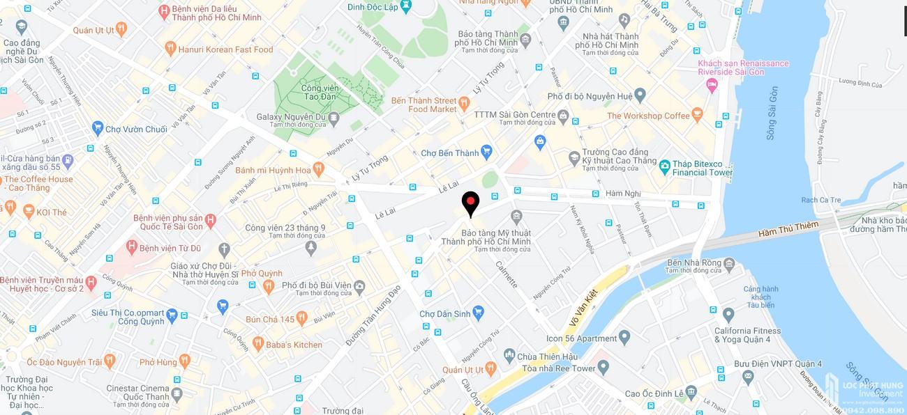 Vị trí địa chỉ dự án căn hộ chung cư The Spirit Of Saigon Quận 1 Đường 1 Phạm Ngũ Lão chủ đầu tư Bitexco