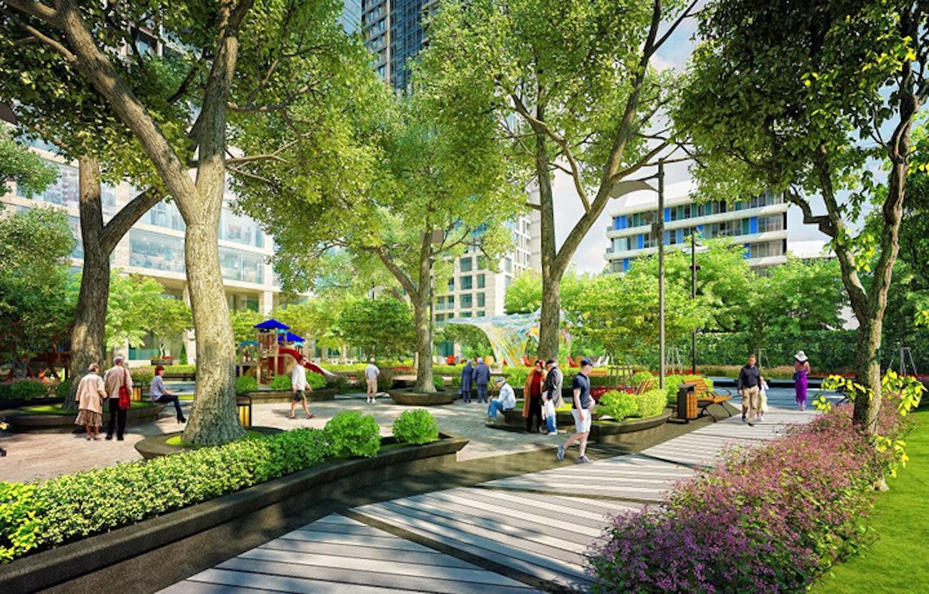 Công viên nội khu tại dự án NOXH Golden City Tay Ninh