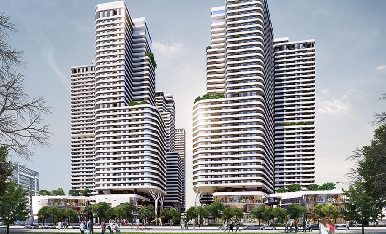 Phối cảnh tổng thể dự án căn hộ chung cư Astral City CĐT Phát Đạt Quốc Lộ 13