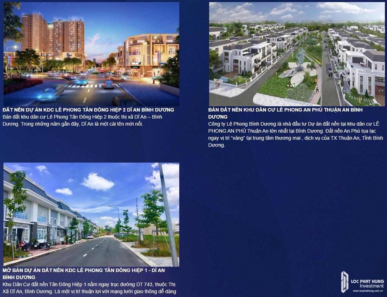 Năng lực triển khai các dự án của chủ đầu tư Lê Phong dự án căn hộ chung cư The Emerald Golf View Bình Dương