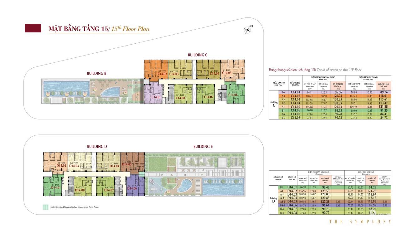 Mặt bằng dự án căn hộ chung cư The Symphony Phú Mỹ Hưng Quận 7 Đường Đường 16 chủ đầu tư Phú Mỹ Hưng
