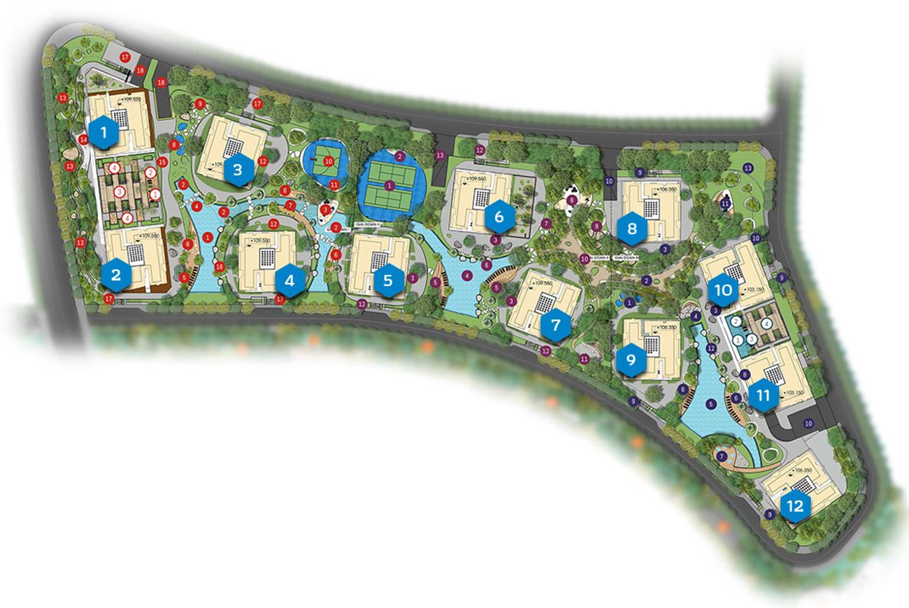 Mặt bằng chi tiết căn hộ Gem Riverside Quận 2