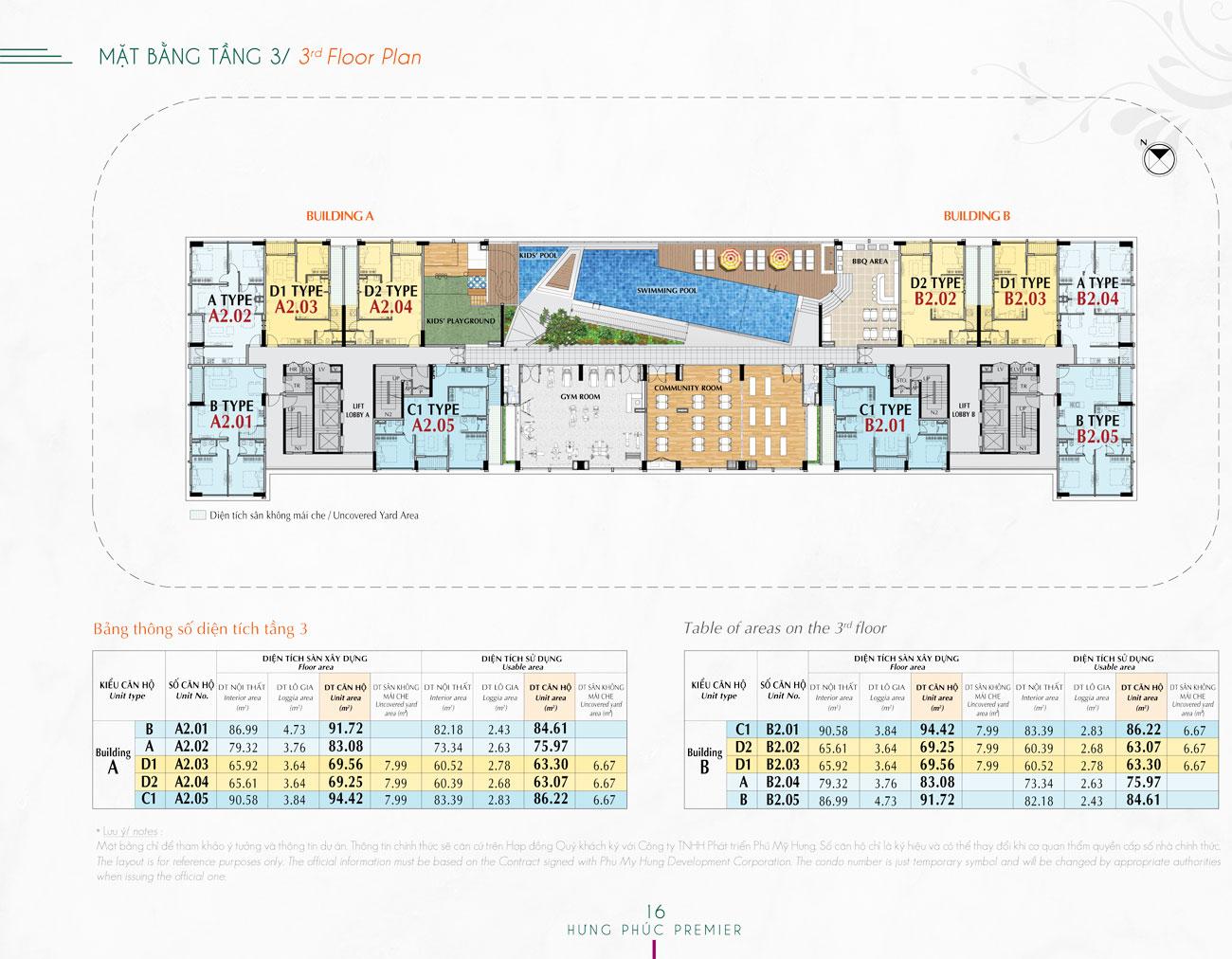 Mặt bằng dự án căn hộ Happy Residence Premier Quận 7
