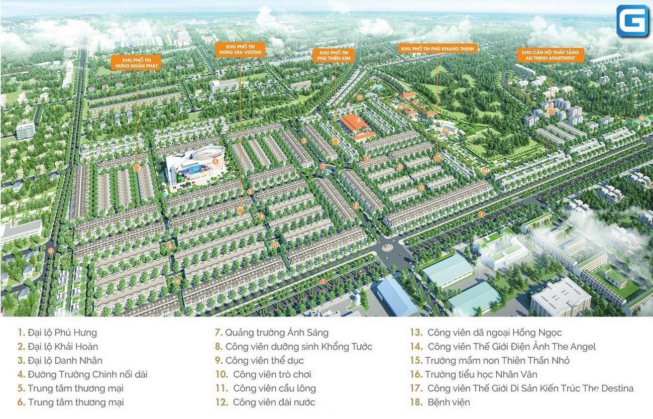 Mặt bằng dự án nhà phố, đất nền Gem Sky World Long Thành Đường Quốc Lộ 51 chủ đầu tư Đất Xanh