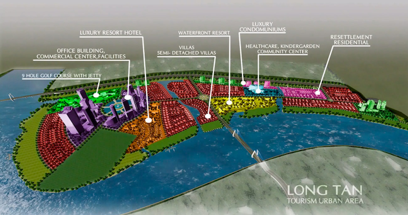 Các phân khu dự án khu đô thị Long Tân - DIC Wisteria City Đồng Nai