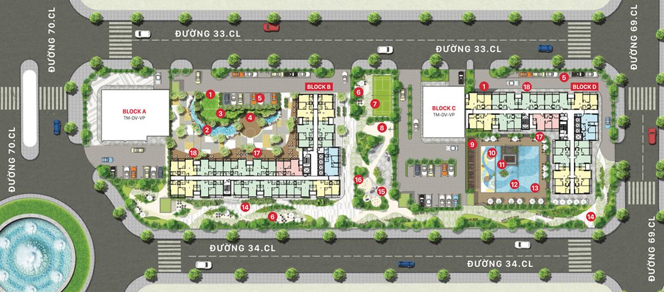 Mặt bằng dự án căn hộ Citi Alto điển hình