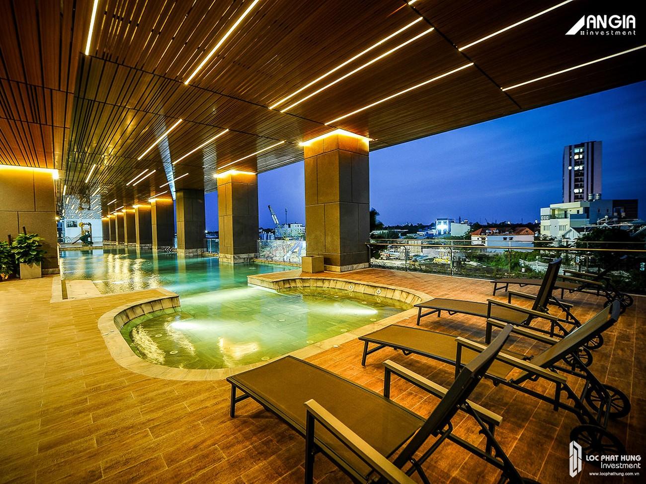 Mua bán cho thuê căn hộ chung cư An Gia Skyline Quận 7 - Hình ảnh thực tế Hồ bơi tại tầng 02 AnGia Skyline