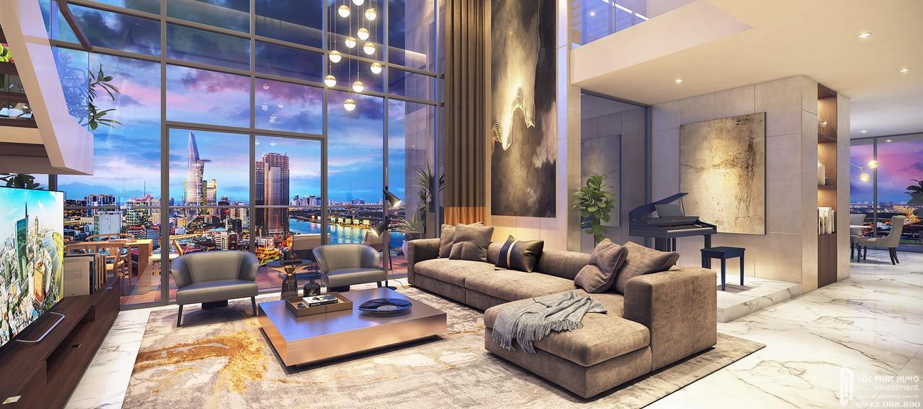 Penthouse dự án chung cư Masteri Millennium Quận 4 Đường 132 Bến Vân Đồn chủ đầu tư Thảo Điền