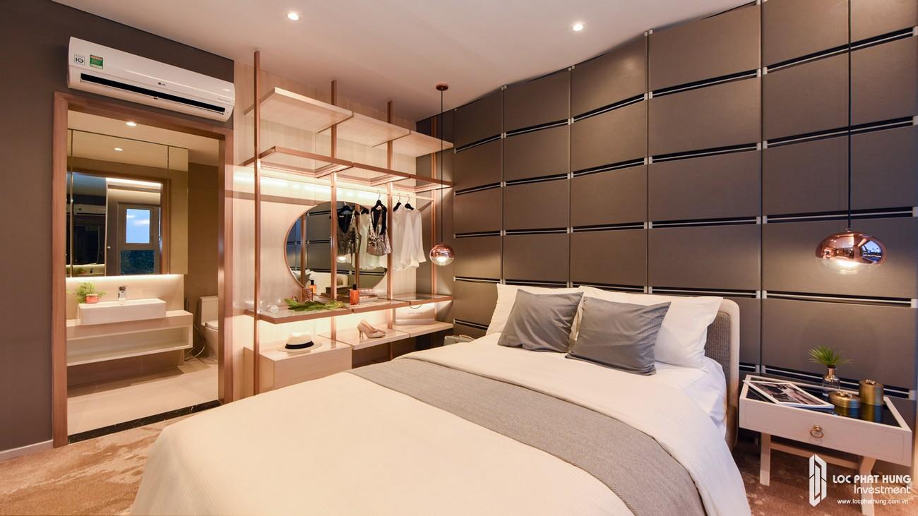 Nhà mẫu loại 2 phòng ngủ dự án căn hộ chung cư The Emerald Golf View Bình Dương chủ đầu tư Lê Phong - Thiết kế ngủ Master