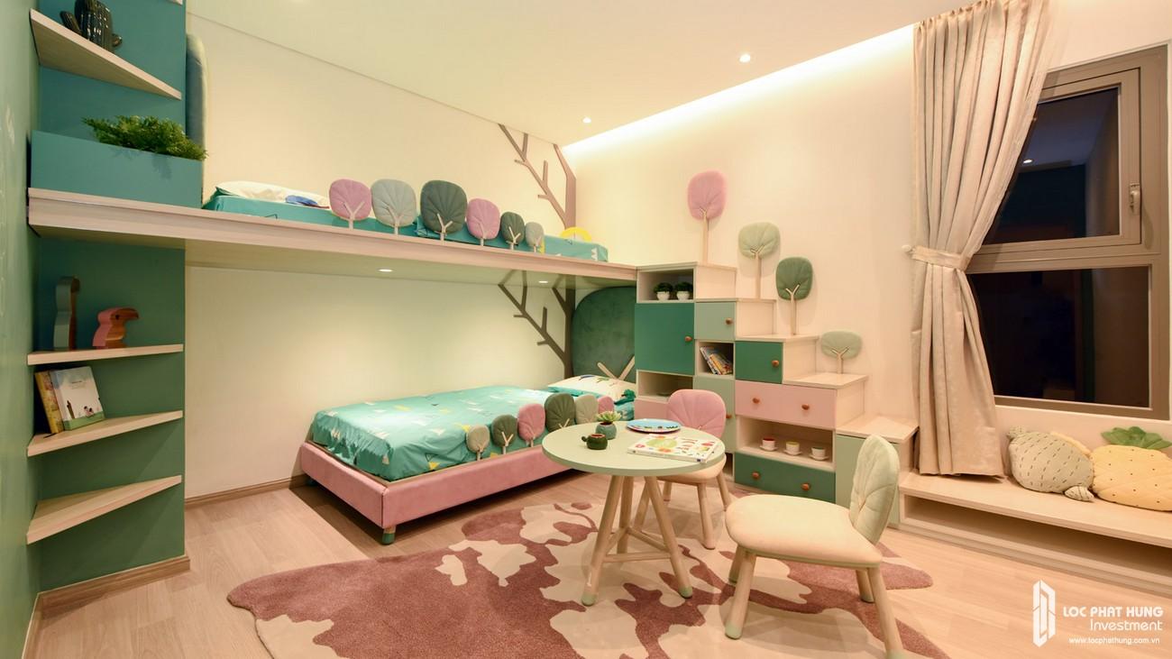 Nhà mẫu loại 2 phòng ngủ dự án căn hộ chung cư The Emerald Golf View Bình Dương chủ đầu tư Lê Phong - Thiết kế ngủ trẻ em