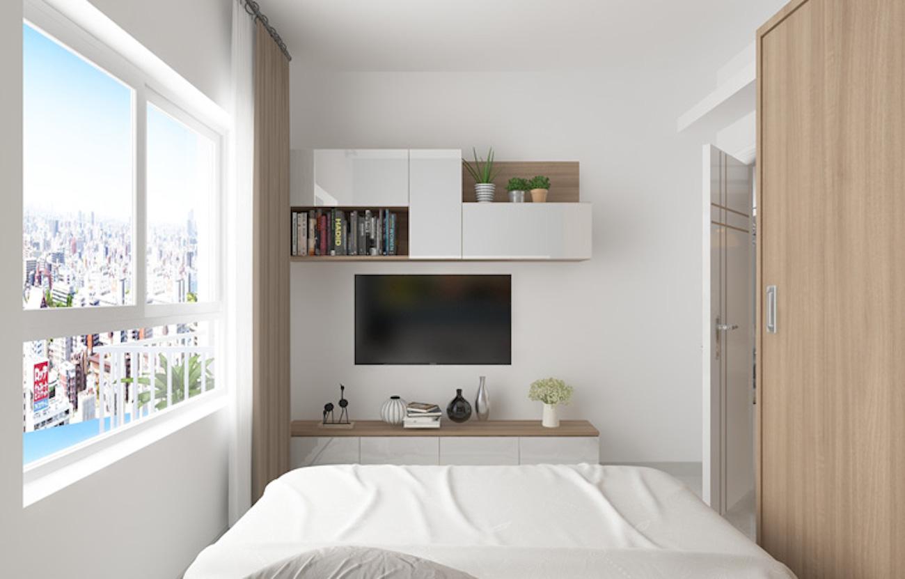 Phòng ngủ với tầm nhìn vô cực về thành phố