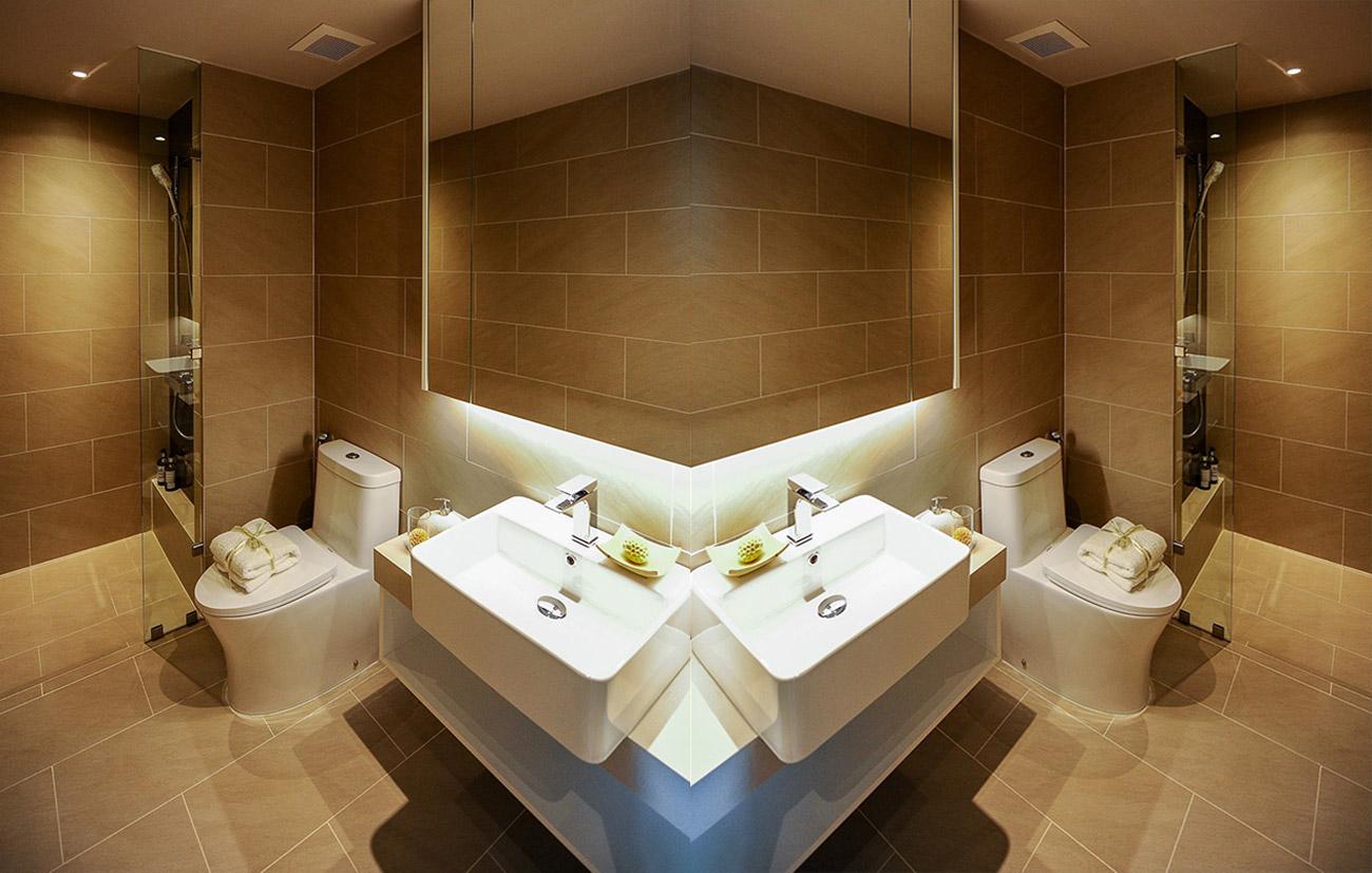 Nội thất nhà tắm bàn giao đầy đủ