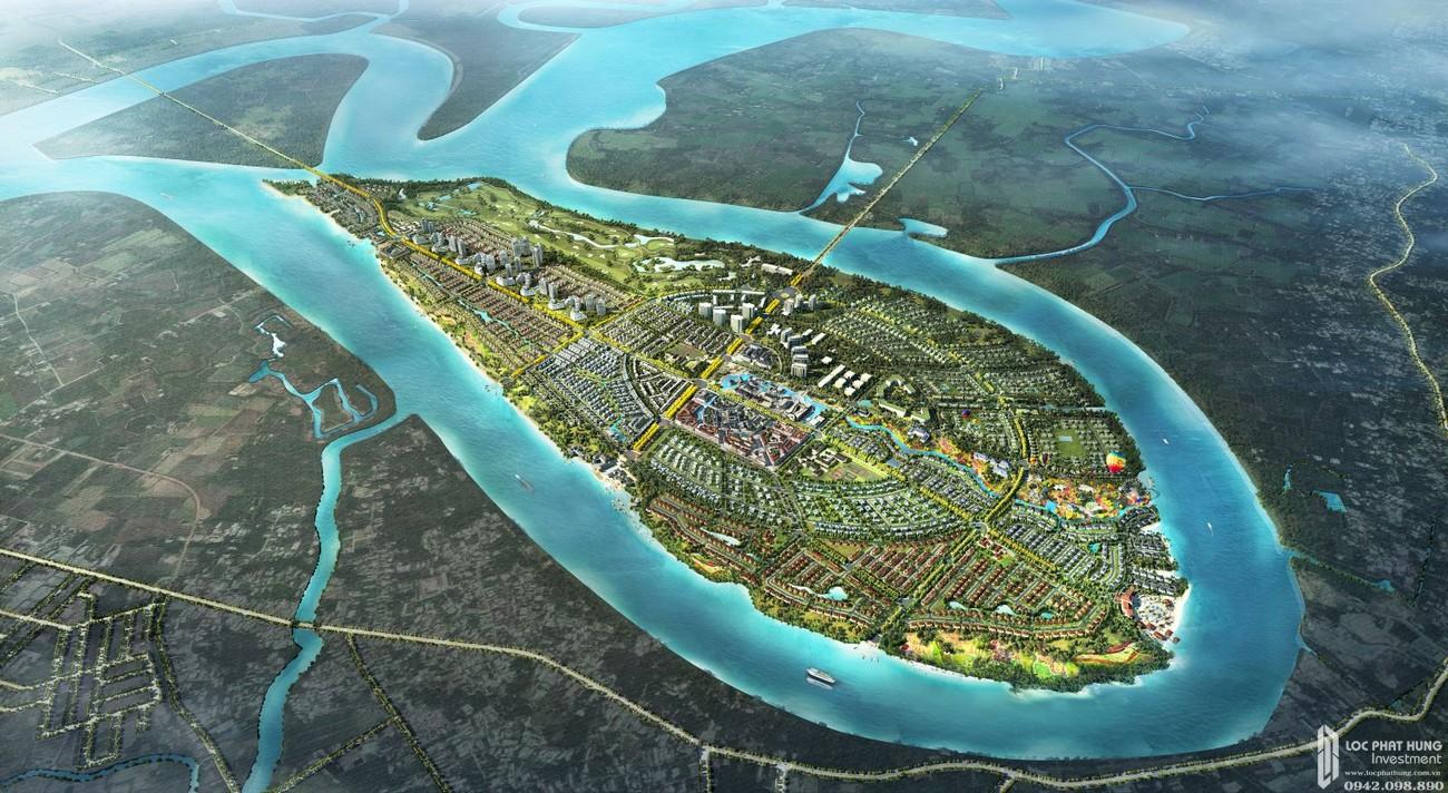 Mặt bằng dự án Nhà Phố biệt thự Swan Bay Nhơn Trạch Đường Đại Phước chủ đầu tư CFLD