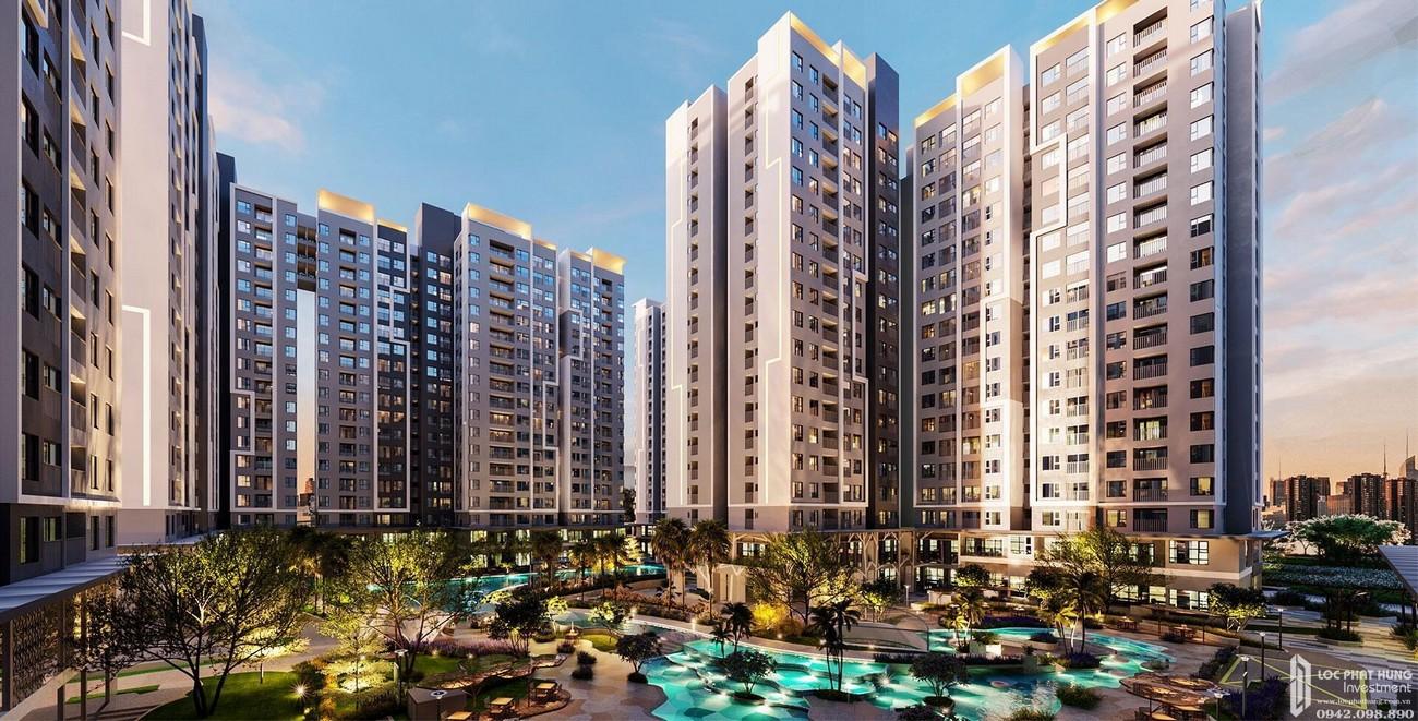 Phối cảnh tổng thể dự án Căn Hộ chung cư Astral City Thuận An Đường Quốc lộ 13 chủ đầu tư Phát Đạt corporation