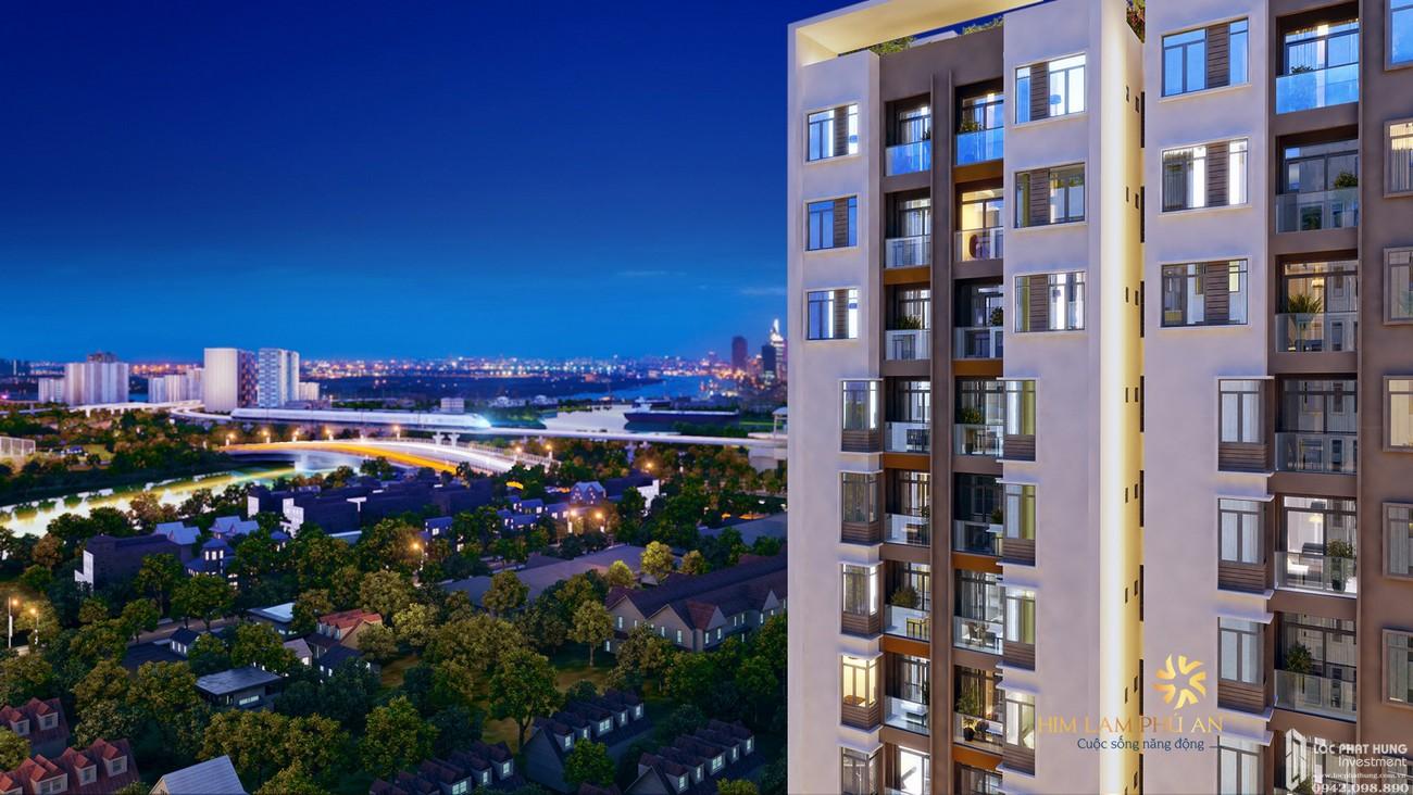Phối cảnh tổng thể dự án căn hộ chung cư Him Lam Phú An Quận 9 Đường 32 Thủy Lợi chủ đầu tư Him Lam