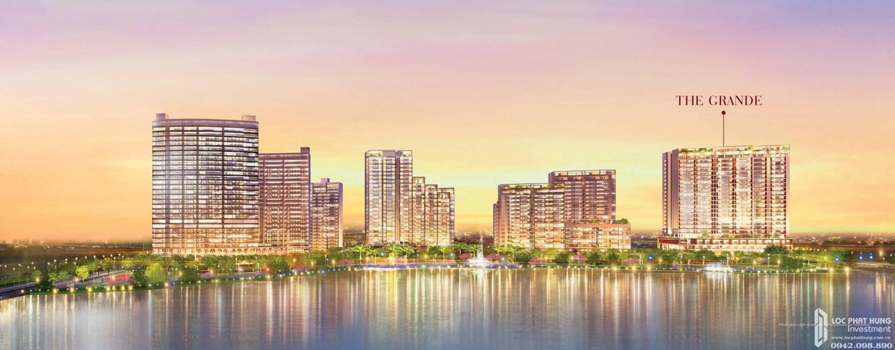 Phối cảnh tổng thể dự án căn hộ chung cư The Grande PMH Quận 7 Đường Nguyễn Lương Bằng chủ đầu tư Phú Mỹ Hưng