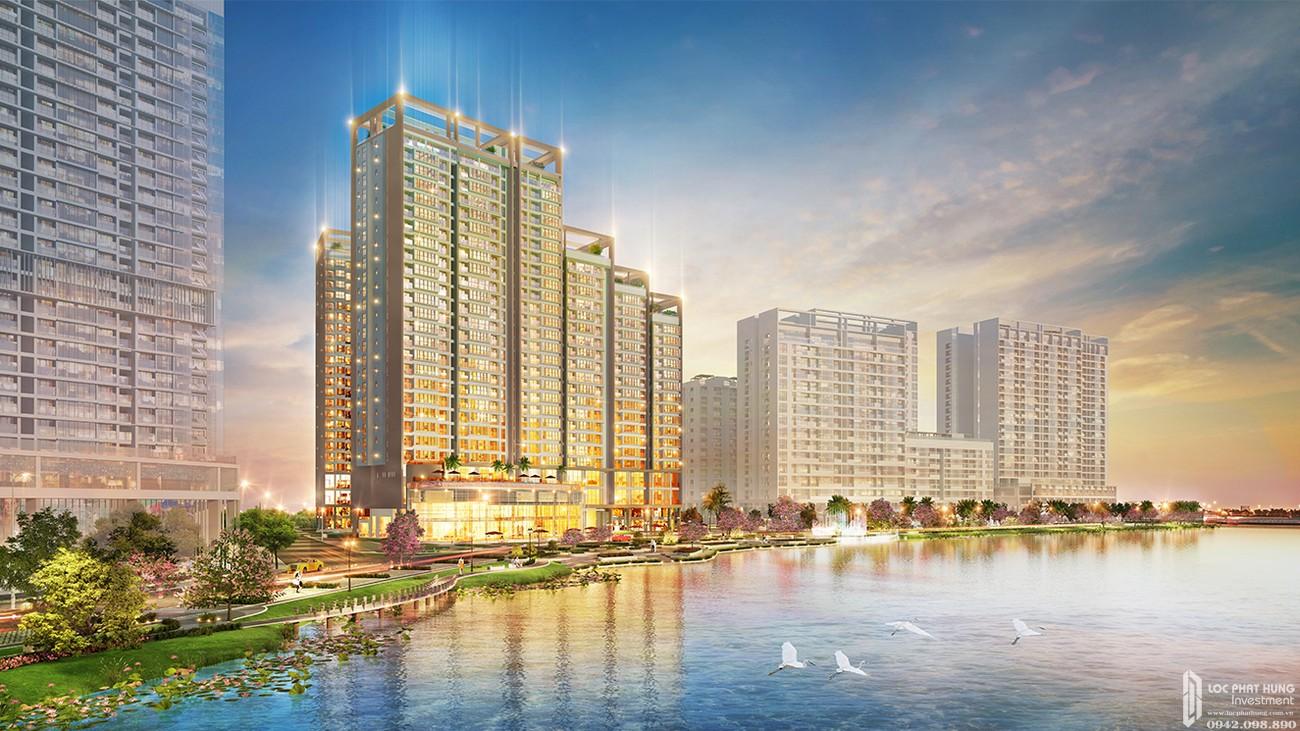 Phối cảnh tổng thể dự án căn hộ chung cư The Signature PMH Quận 7 Đường Đường 16 chủ đầu tư Phú Mỹ Hưng
