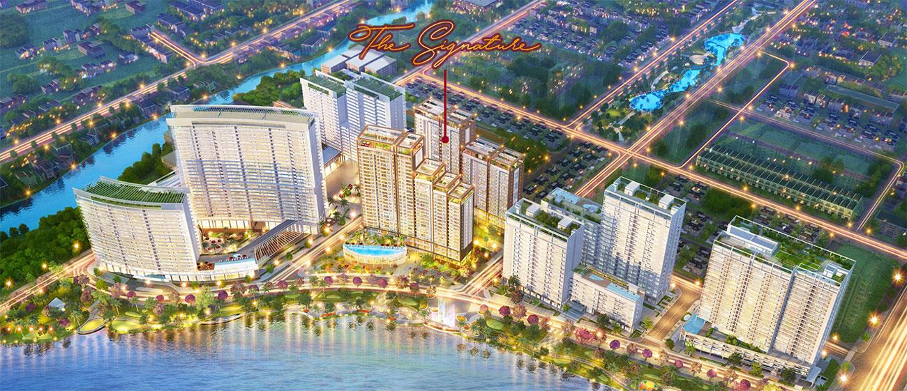 Phối cảnh tổng thể dự án căn hộ chung cư The Signature Phú Mỹ Hưng Quận 7 Đường Đường 16 chủ đầu tư Phú Mỹ Hưng