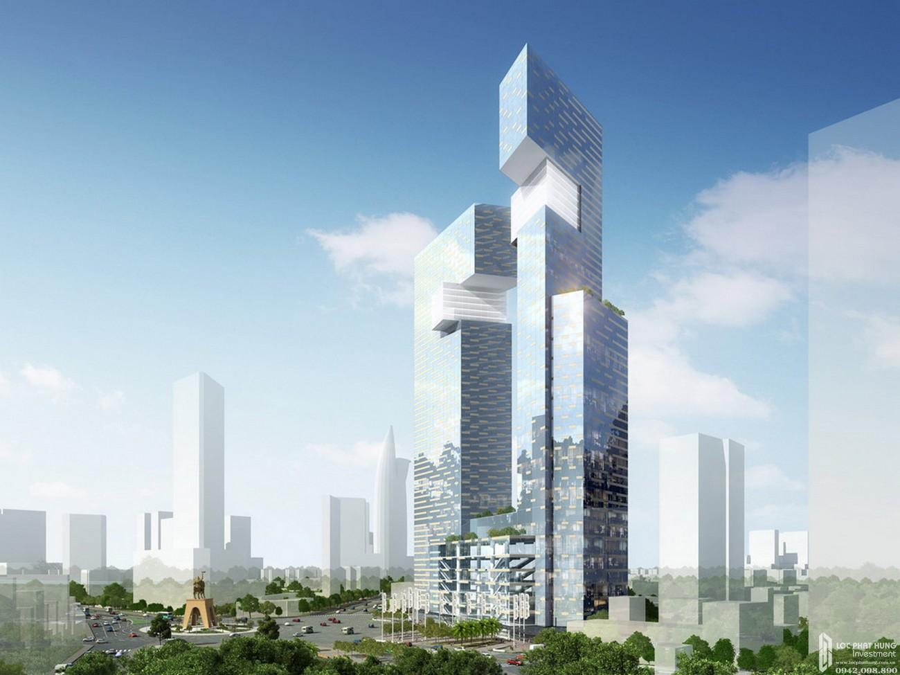 Phối cảnh tổng thể dự án căn hộ chung cư The Spirit Of Saigon Quận 1 Đường 1 Phạm Ngũ Lão chủ đầu tư Bitexco
