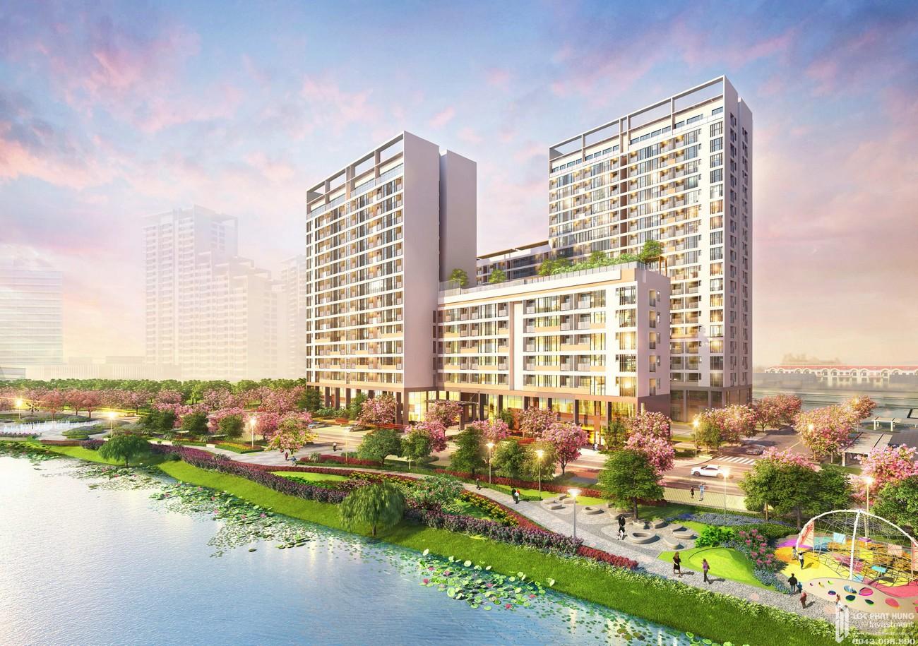 Phối cảnh tổng thể dự án căn hộ chung cư The Symphony PMH Quận 7 Đường Đường 16 chủ đầu tư Phú Mỹ Hưng