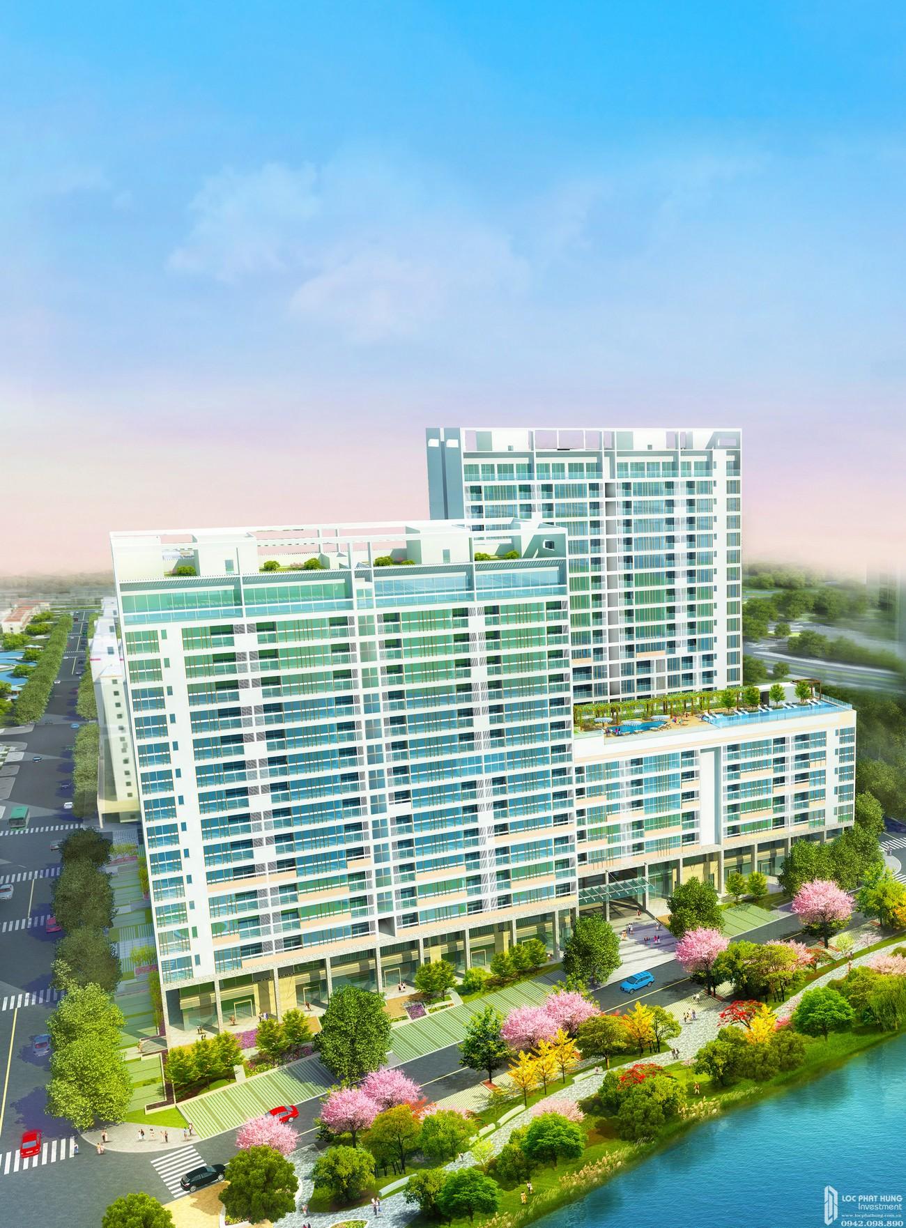Phối cảnh tổng thể dự án căn hộ chung cư The Symphony Phú Mỹ Hưng Quận 7 Đường Đường 16 chủ đầu tư Phú Mỹ Hưng