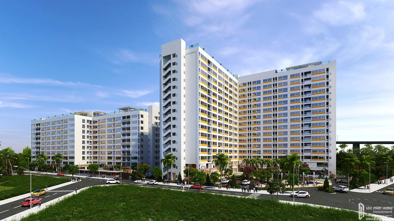 Phối cảnh tổng thể dự án căn hộ Ehome 5 The Bridgeview Quận 7