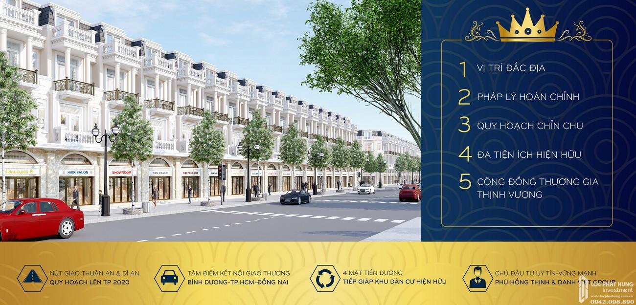 Lợi thế dự án đất nền nhà phố Icon Central Dĩ An Bình Dương chủ đầu tư Phú Hồng Thịnh