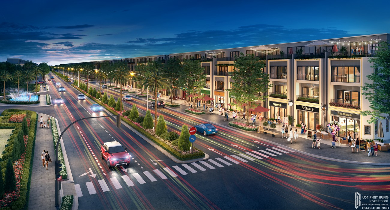 Phối cảnh tổng thể dự án nhà phố đất nền Gem Sky World Long Thành Đường Quốc Lộ 51 chủ đầu tư Đất Xanh