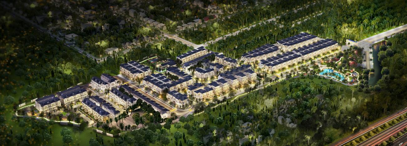 Phối cảnh dự kiến dự án nhà phố The Standard Tân Uyên Bìnhh Dương CĐT An Gia
