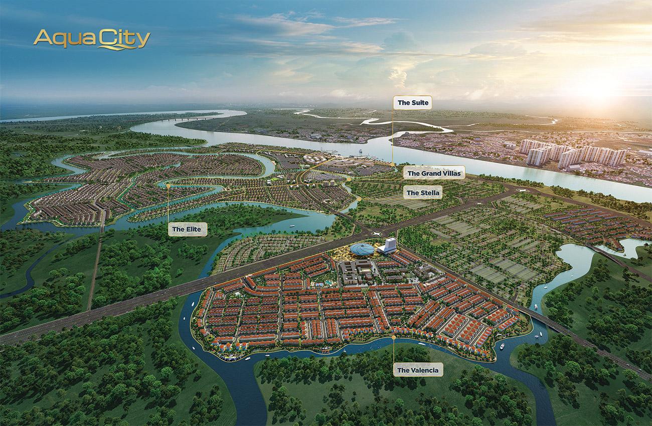 Phối cảnh tổng thể quy mô dự án khu đô thị Aqua City