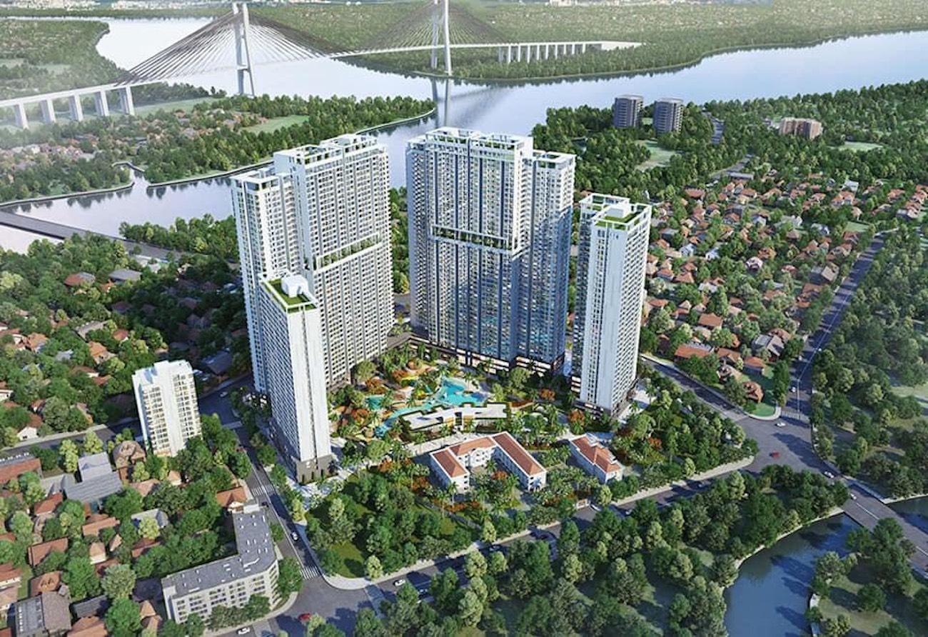 Phối cảnh tổng thể dự án Marina Park Đào Trí Quận 7