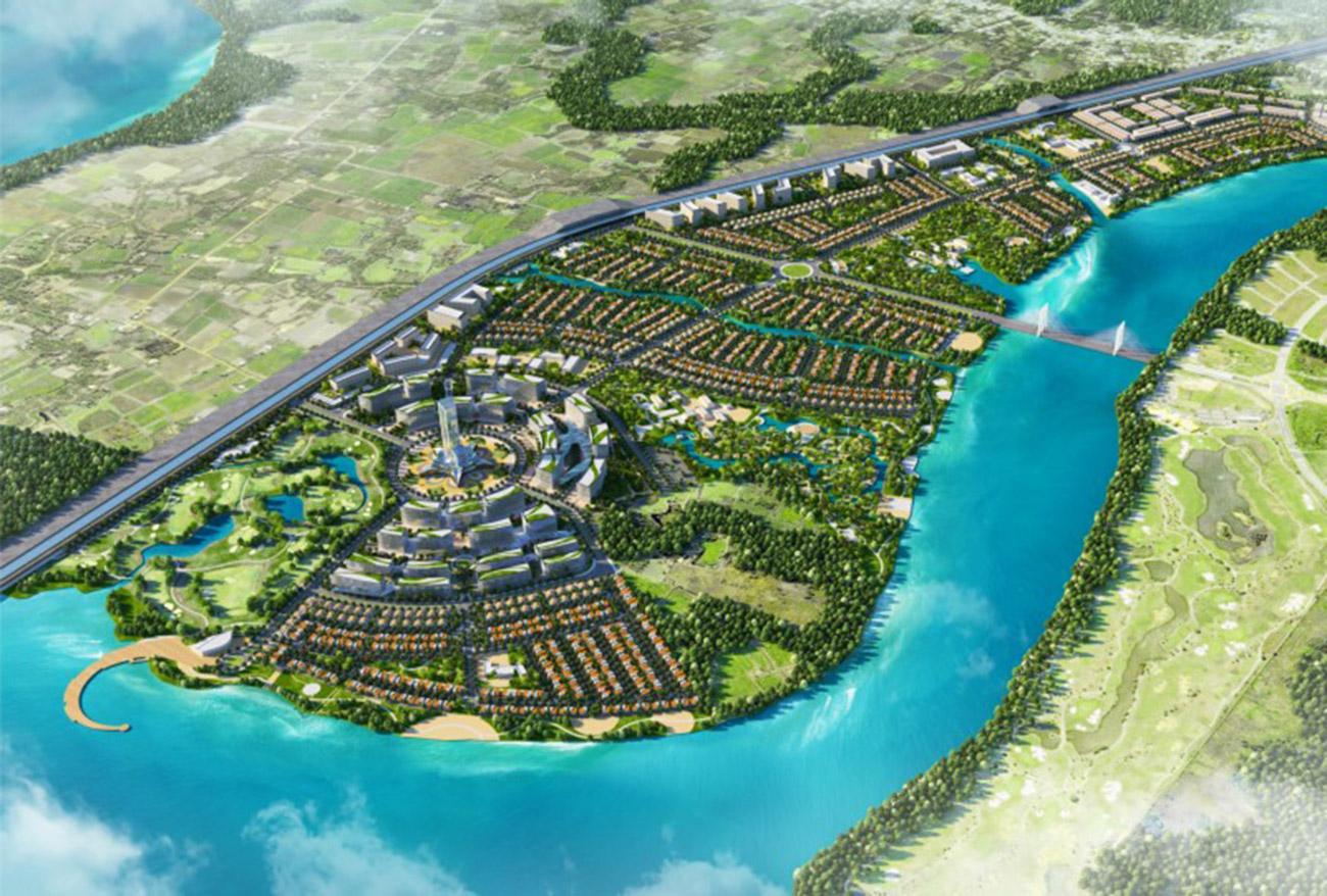 Tổng thể dự án khu đô thị du lịch Long Tân - Wisteria City Đồng Nai