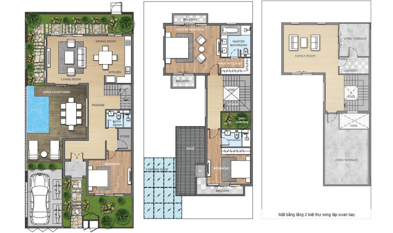 Thiết kế biệt thự đơn lập Nhà Phố biệt thự Swan Bay Nhơn Trạch Đường Đại Phước chủ đầu tư CFLD