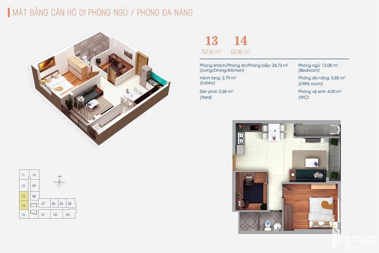 Thiết kế dự án Căn Hộ chung cư Green Square Dĩ An Đường QL 1K chủ đầu tư TBS Land
