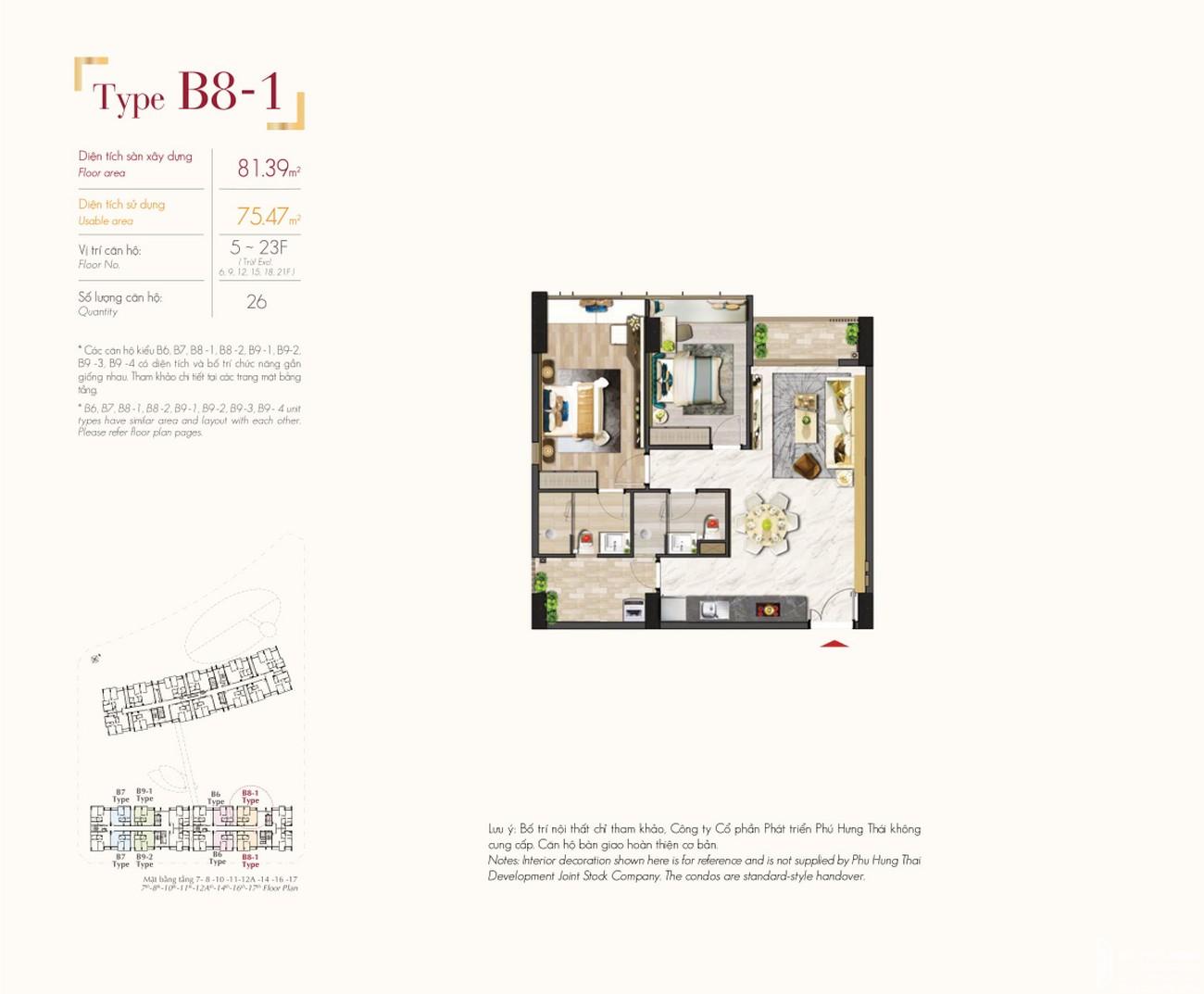 Thiết kế dự án căn hộ chung cư The Signature PMH Quận 7 Đường Đường 16 chủ đầu tư Phú Mỹ Hưng