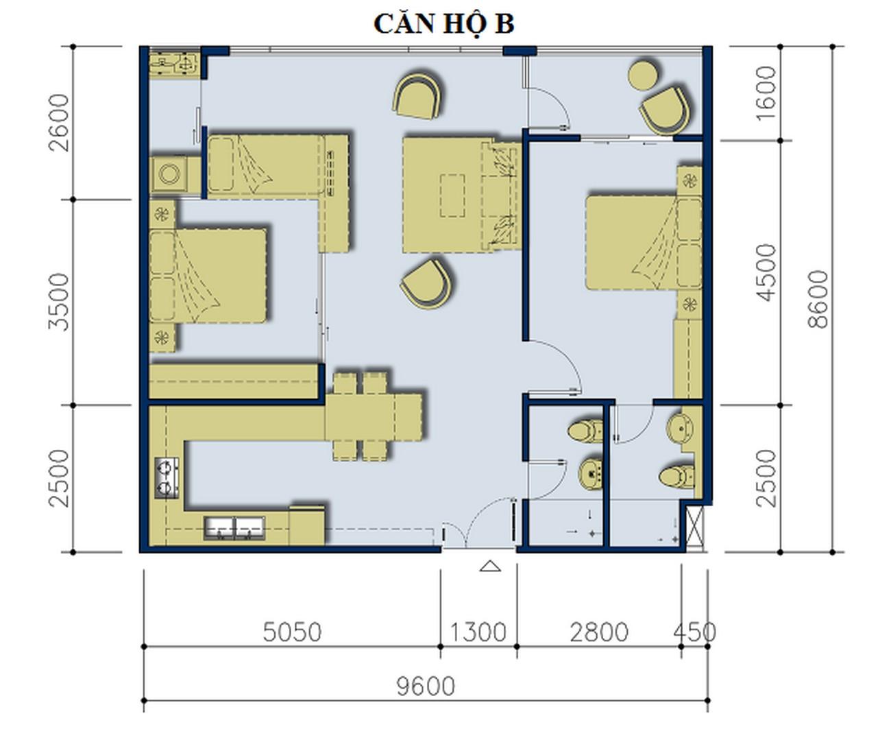 Thiết kế dự án căn hộ Ehome 5 The Bridgeview Quận 7